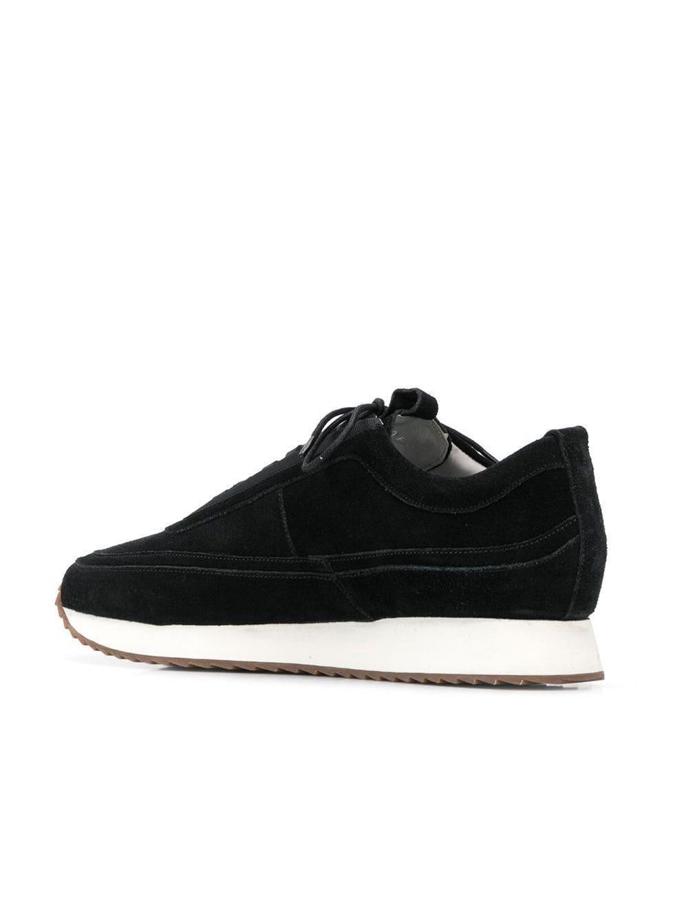 Zapatillas con suela en contraste Grenson de Cuero de color Negro para hombre