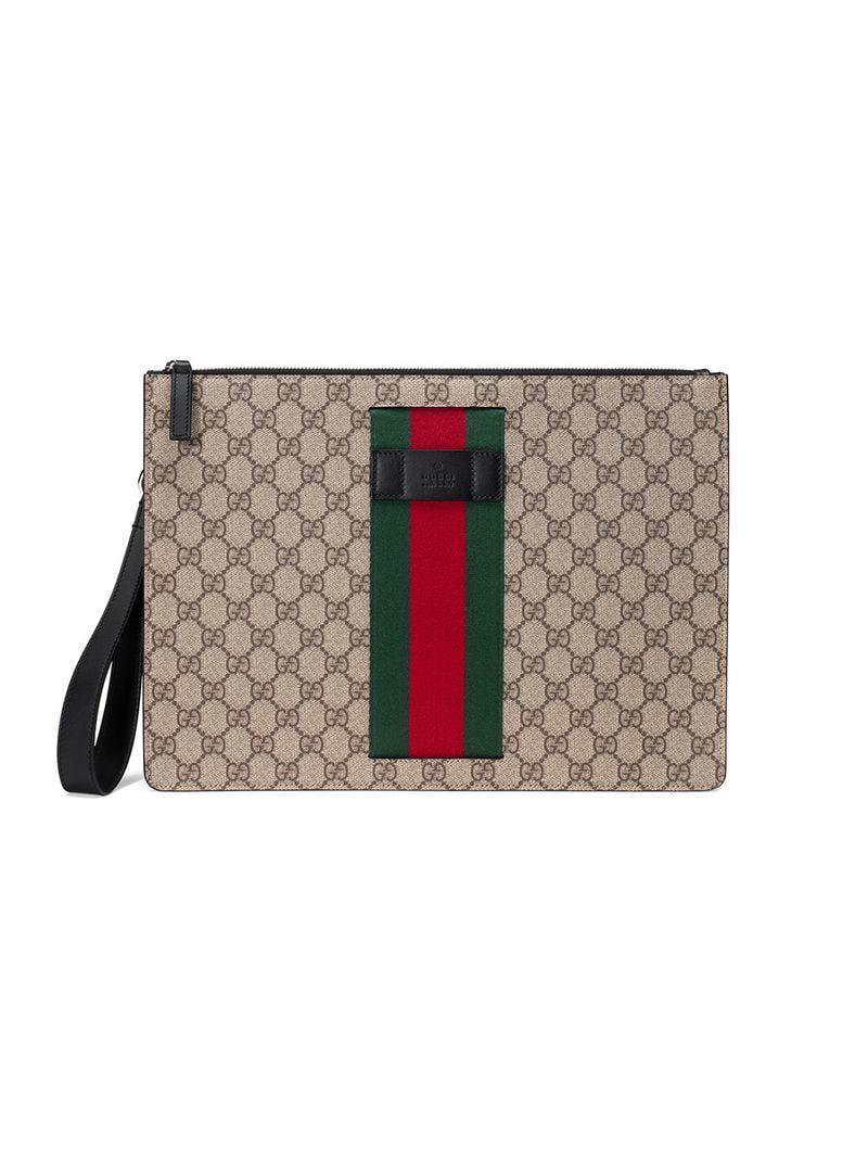 4297ceb3564 Lyst - Pochette Suprême GG à bande Web Gucci pour homme - 44 % de ...