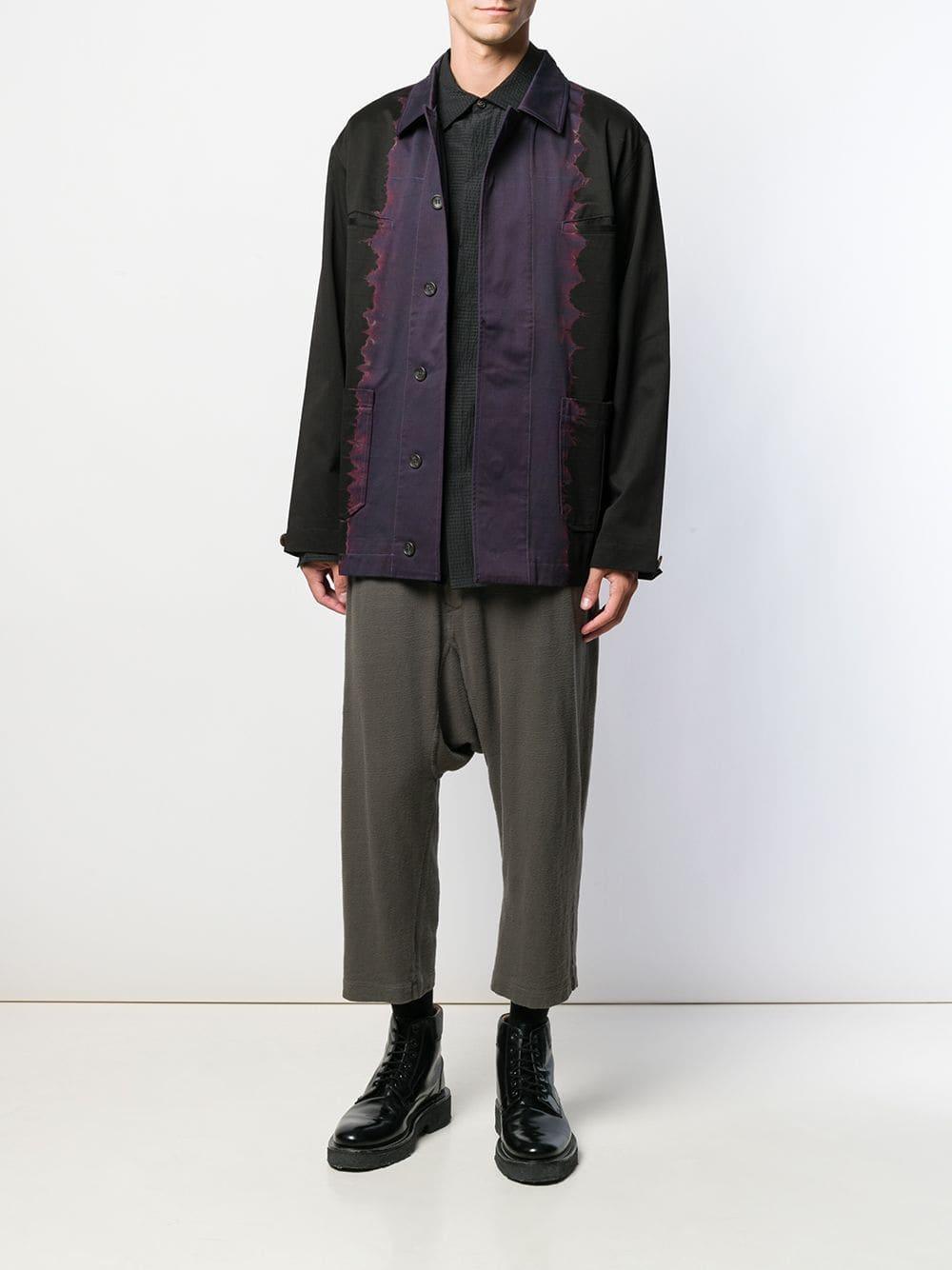 Suzusan Shirtjack Met Tie-dye Print in het Blauw voor heren
