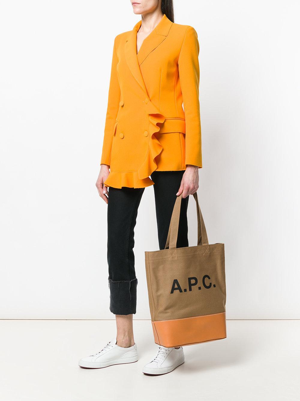 A.P.C. Cotton A.P.C Borsa cabas marrone