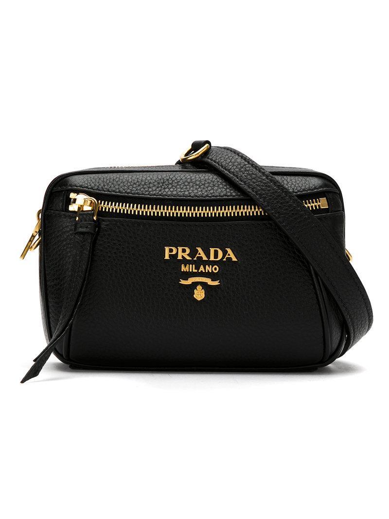 a67feefbaecf Prada Logo Belt Bag in Black - Lyst
