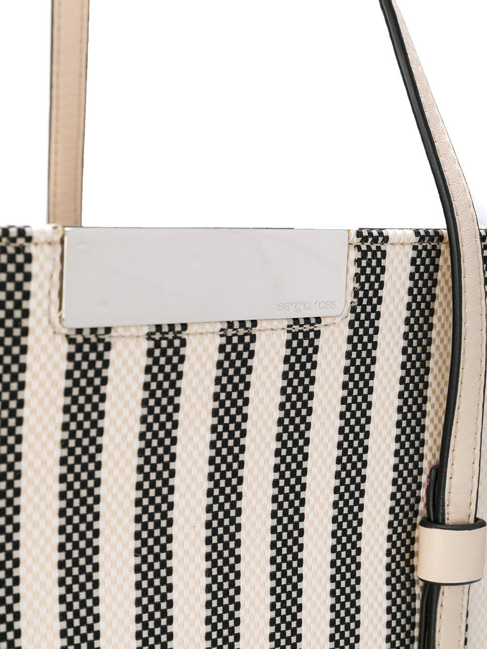 Sergio Rossi striped tote - Nude & Neutrals PeOnzXG