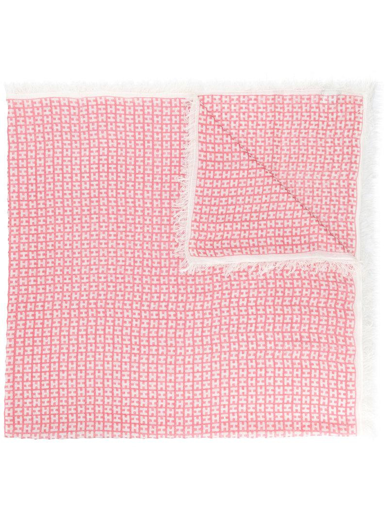 fringed logo scarf - Pink & Purple Hemisphere LgYQk0Ch
