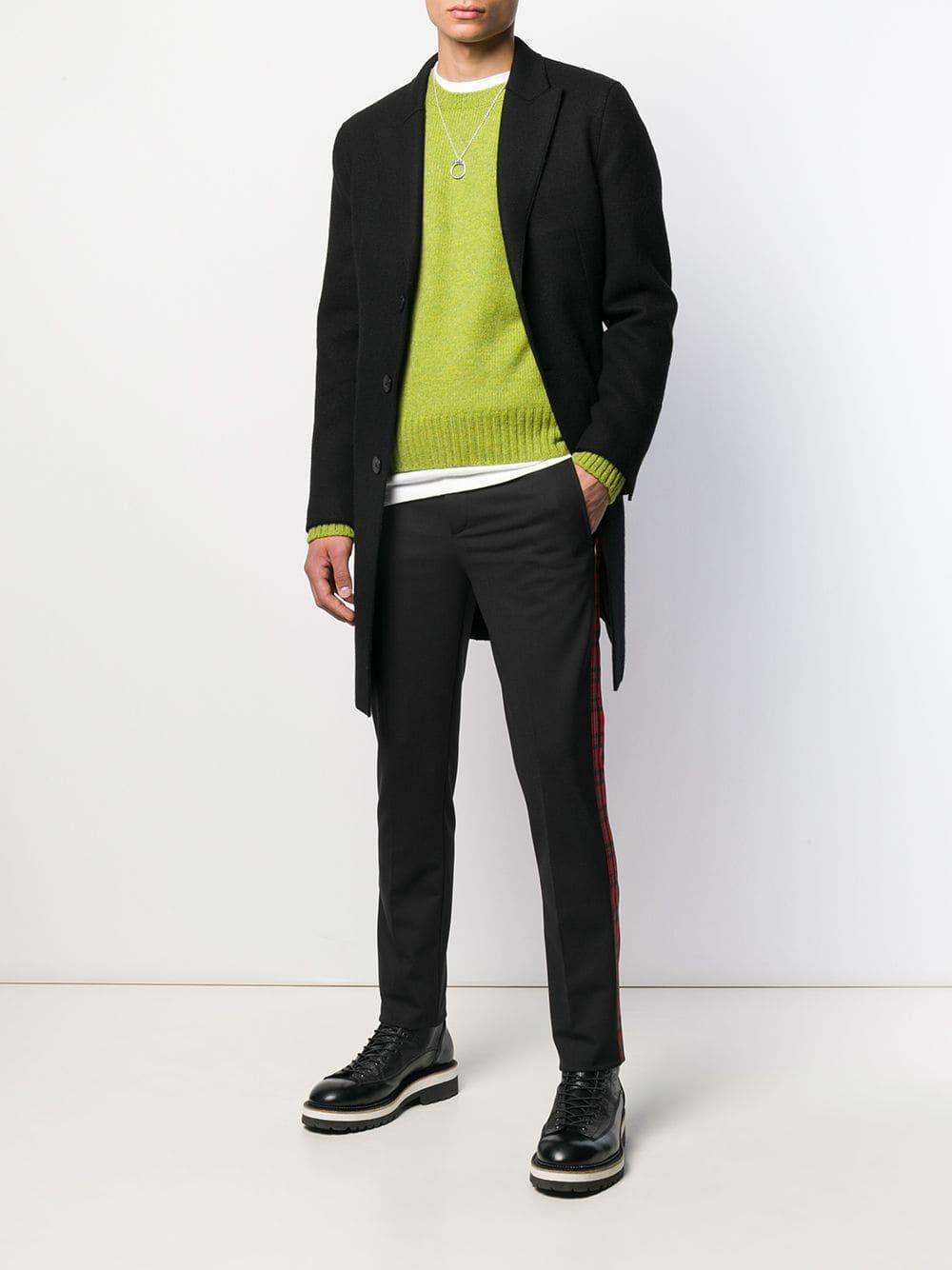 Manteau droit à fermeture dissimulée Laines Neil Barrett pour homme en coloris Noir zGCG9
