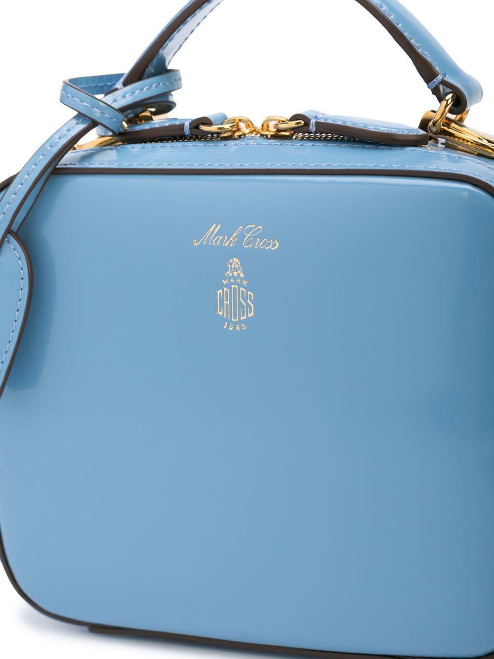 Mark Cross Leather Vintage Style Mini-tote Handbag in Blue