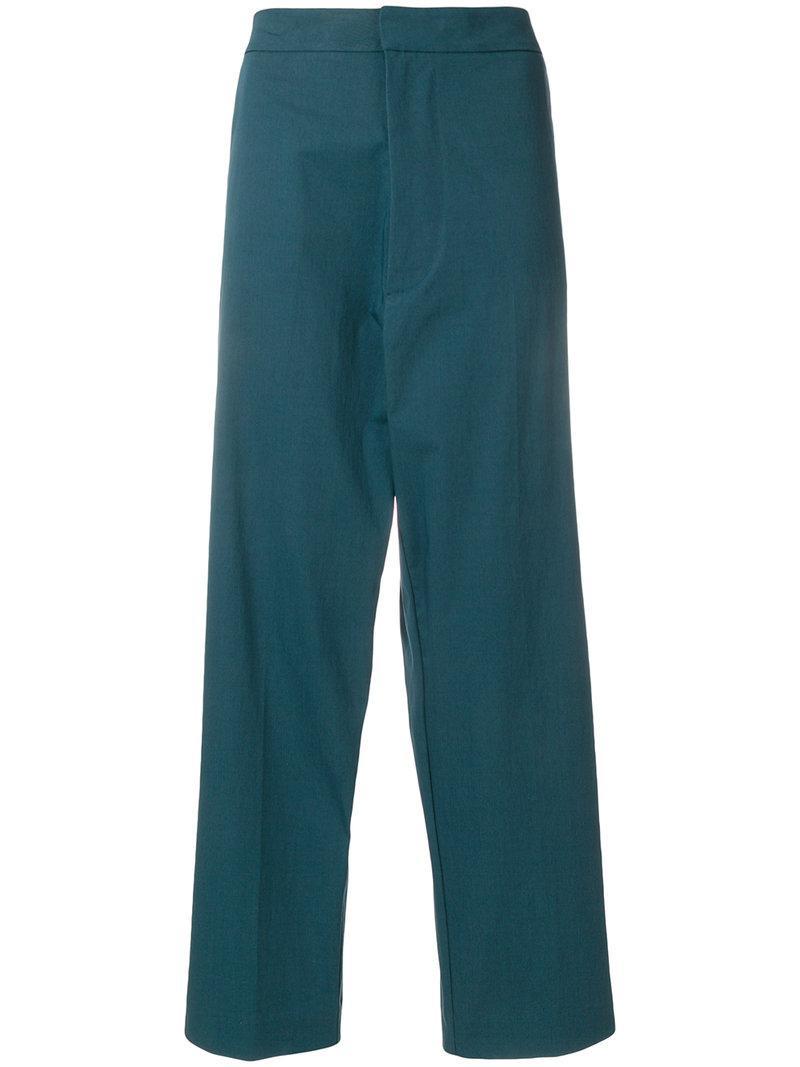 Haut Pantalon Jambe Droite Taille Haute - Vert Erika Cavallini Semi-couture zosOv6lIjr