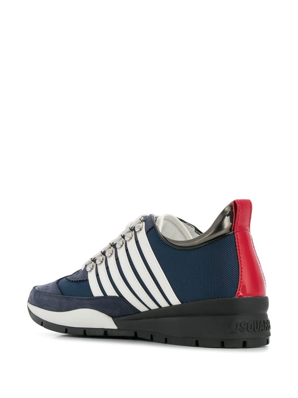 Zapatillas bajas 251 DSquared² de Ante de color Azul para hombre