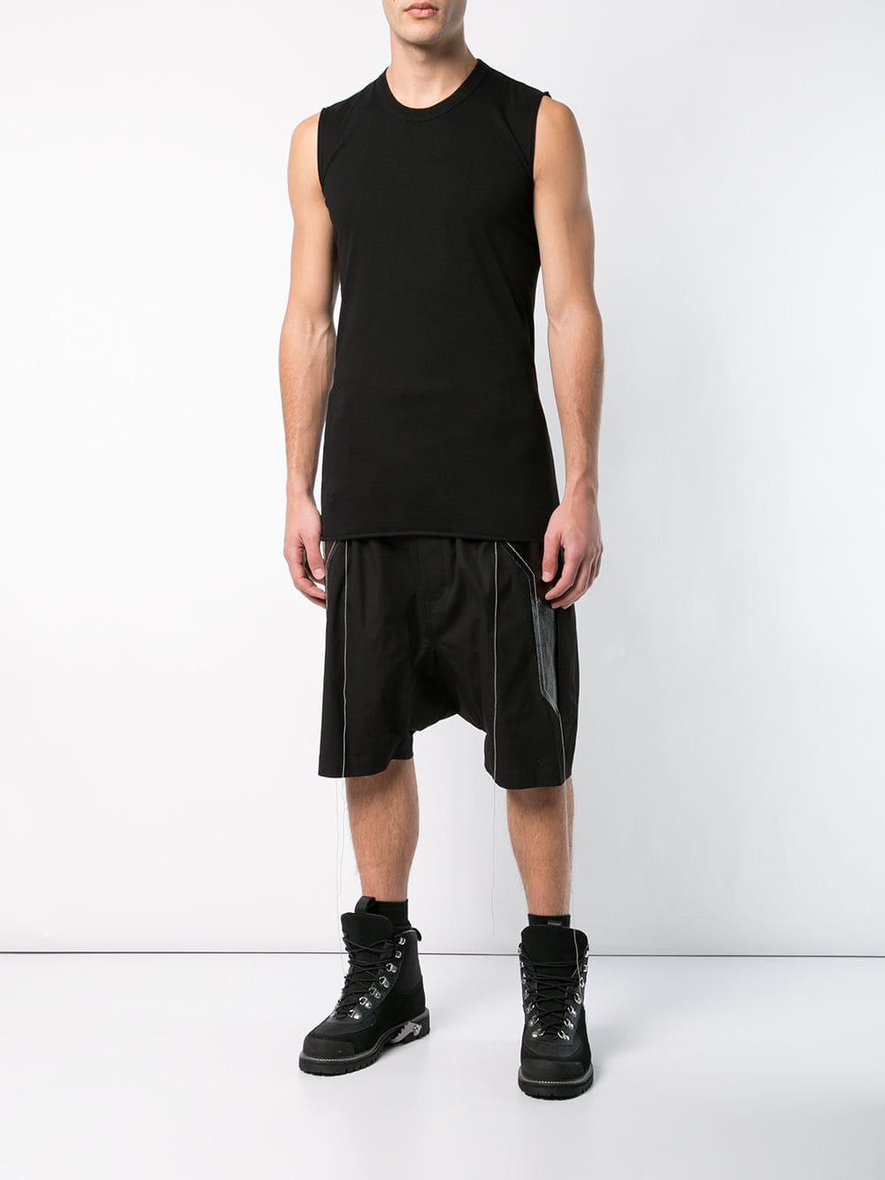 8f642c285b93a Lyst - Rick Owens Fitted Tank Top in Black for Men