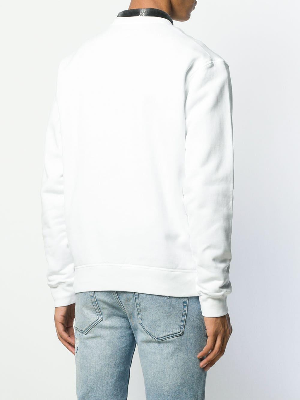 DSquared² Katoen Sweater Met Logopatch in het Wit voor heren
