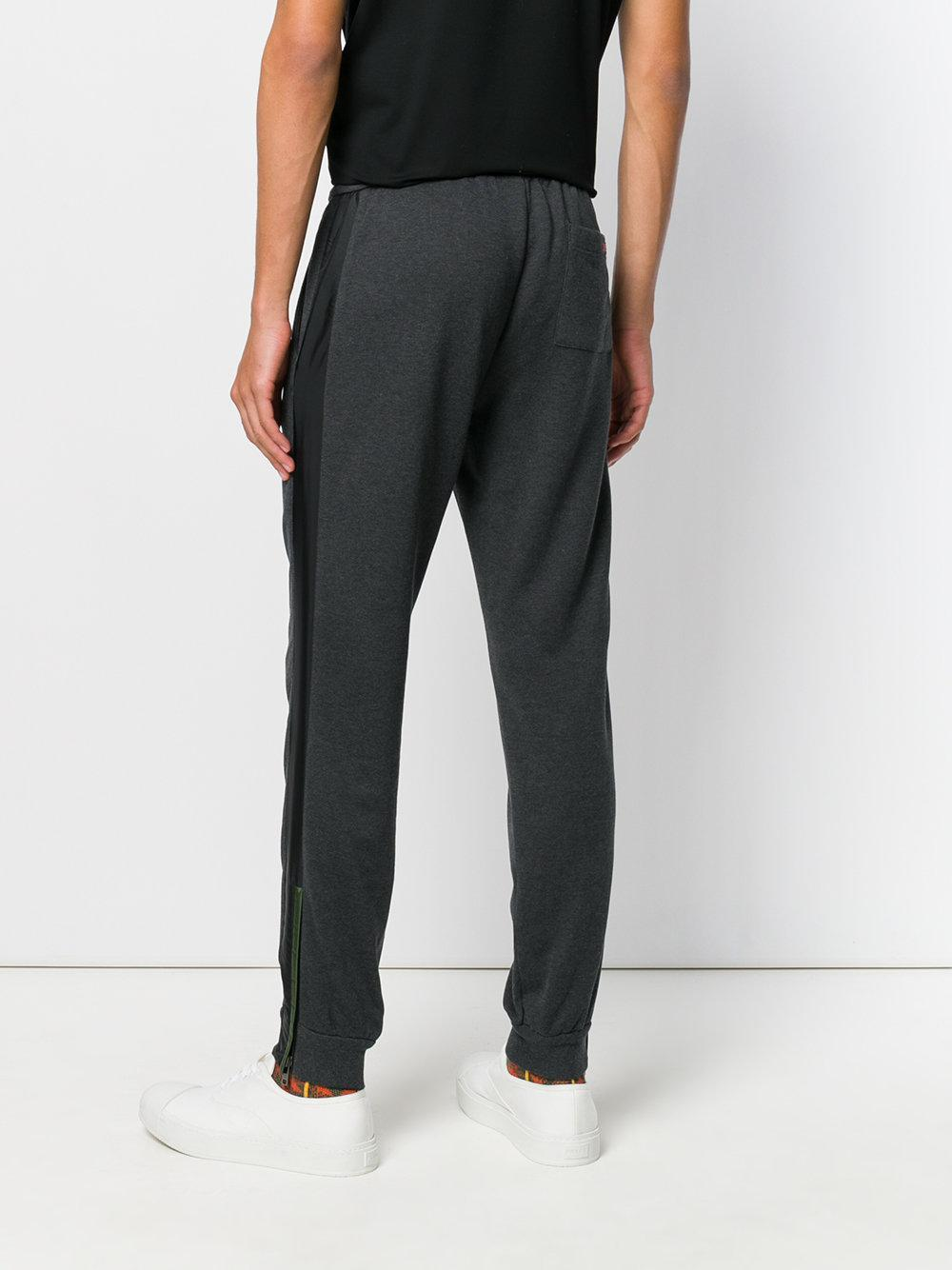 Prada Cotton Tapered Track Trousers in Grey (Grey) for Men