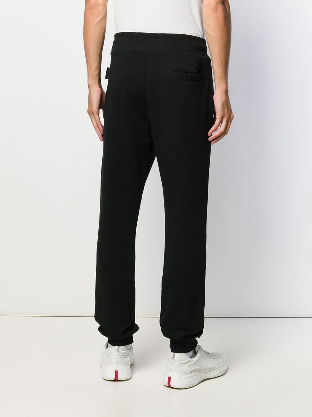 Versace Jeans Couture Katoen Joggingbroek Met Logo in het Zwart voor heren