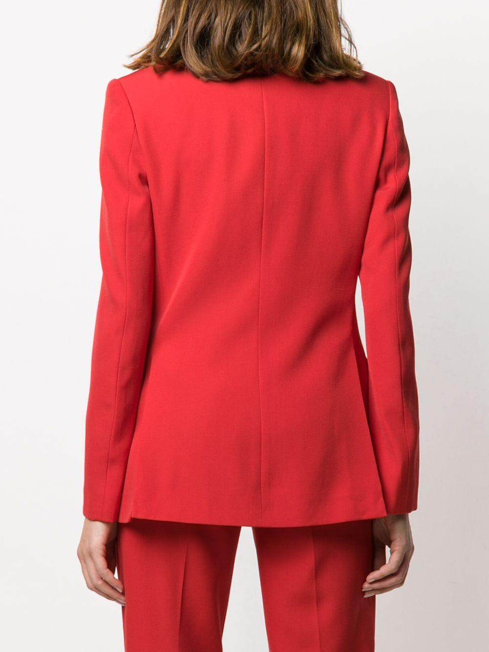 Blazer à poches à rabat Laines Burberry en coloris Rouge
