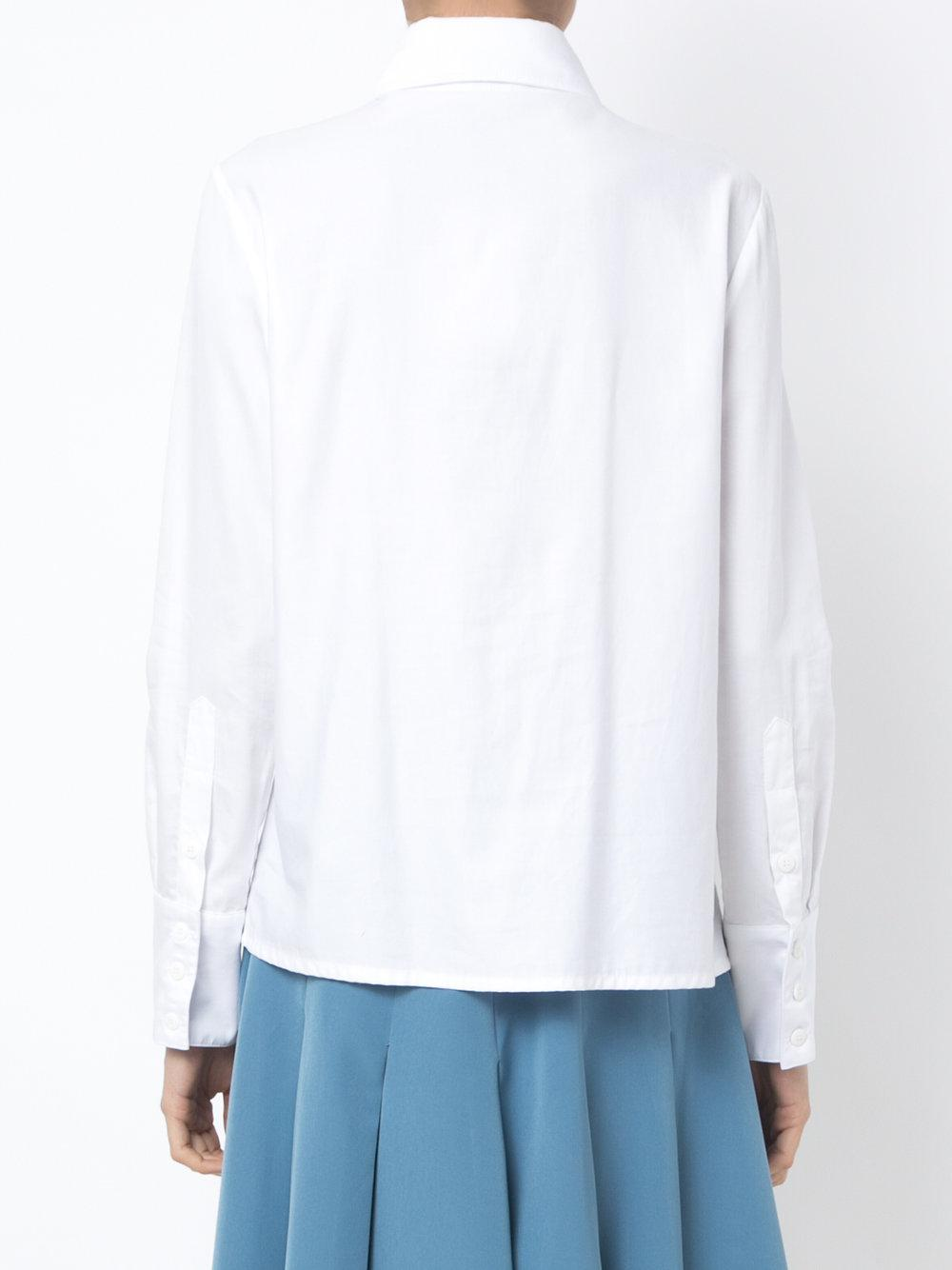 Olympiah Cotton Pleated Midi Skirt in Blue