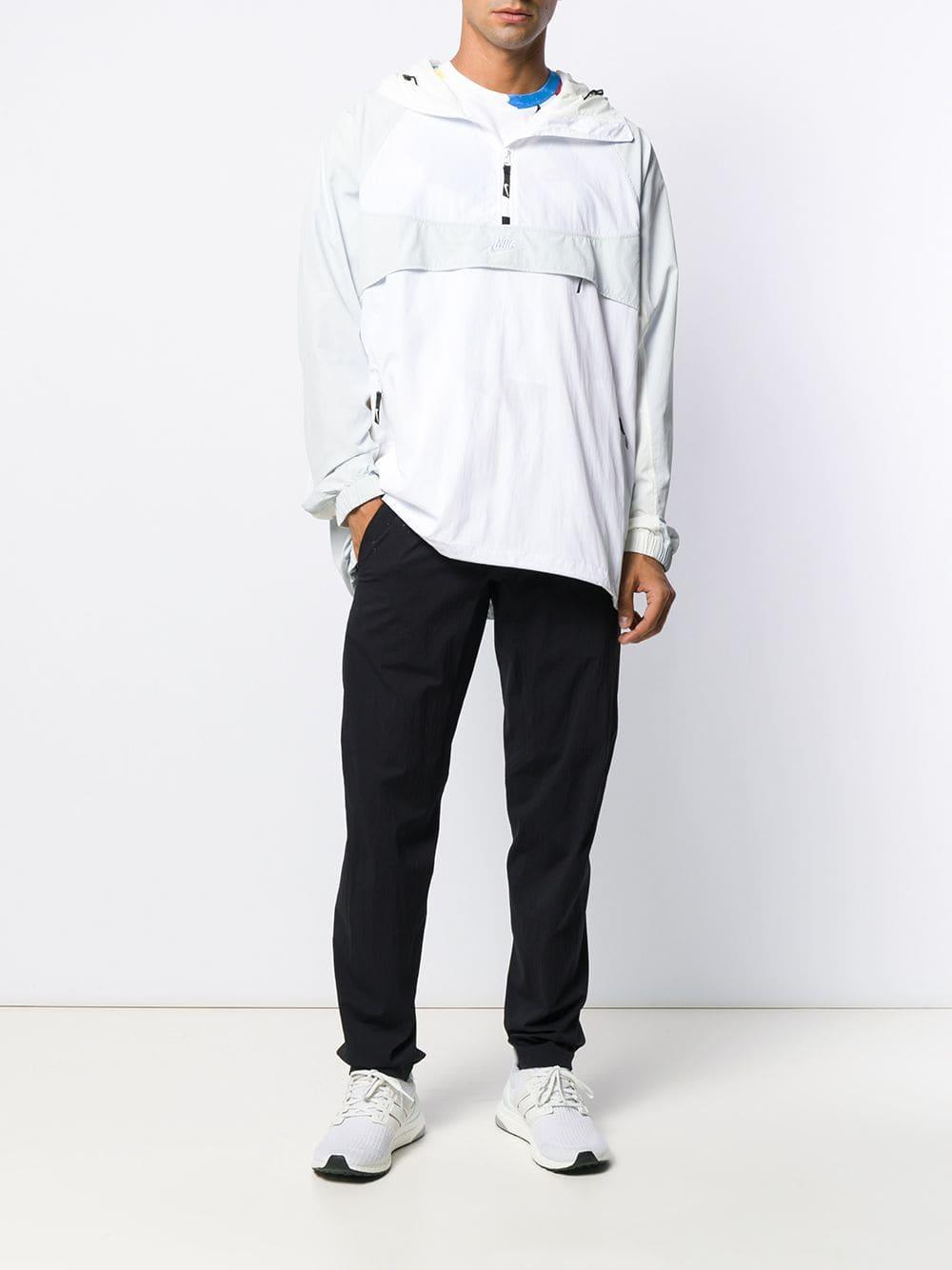 Nike Synthetisch Hoodie Met Halve Rits in het Wit voor heren