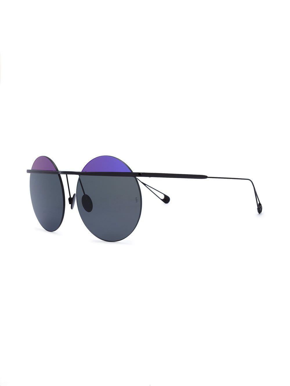 6852449c7a956 Sunday Somewhere Black And Purple Two-tone Round Minggu Sunglasses in Purple  - Lyst