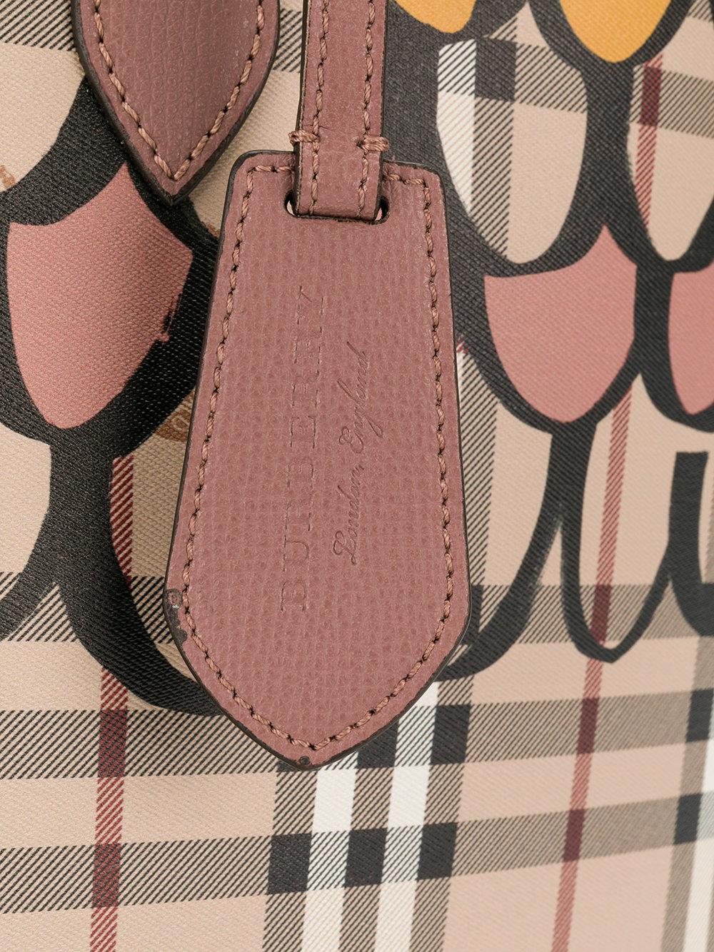 Burberry Leather Medium Reversible Tote Bag in Brown