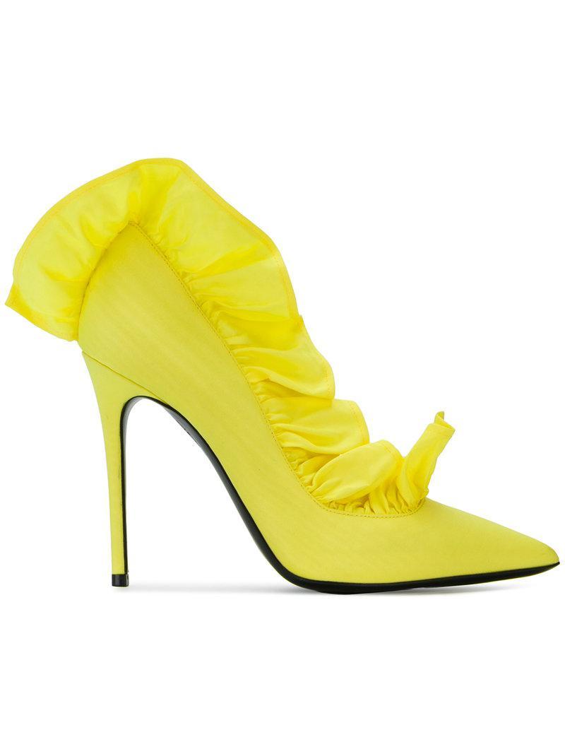 MSGM ROUCHES DECOLLETE - High heels - yellow EgEGjfov