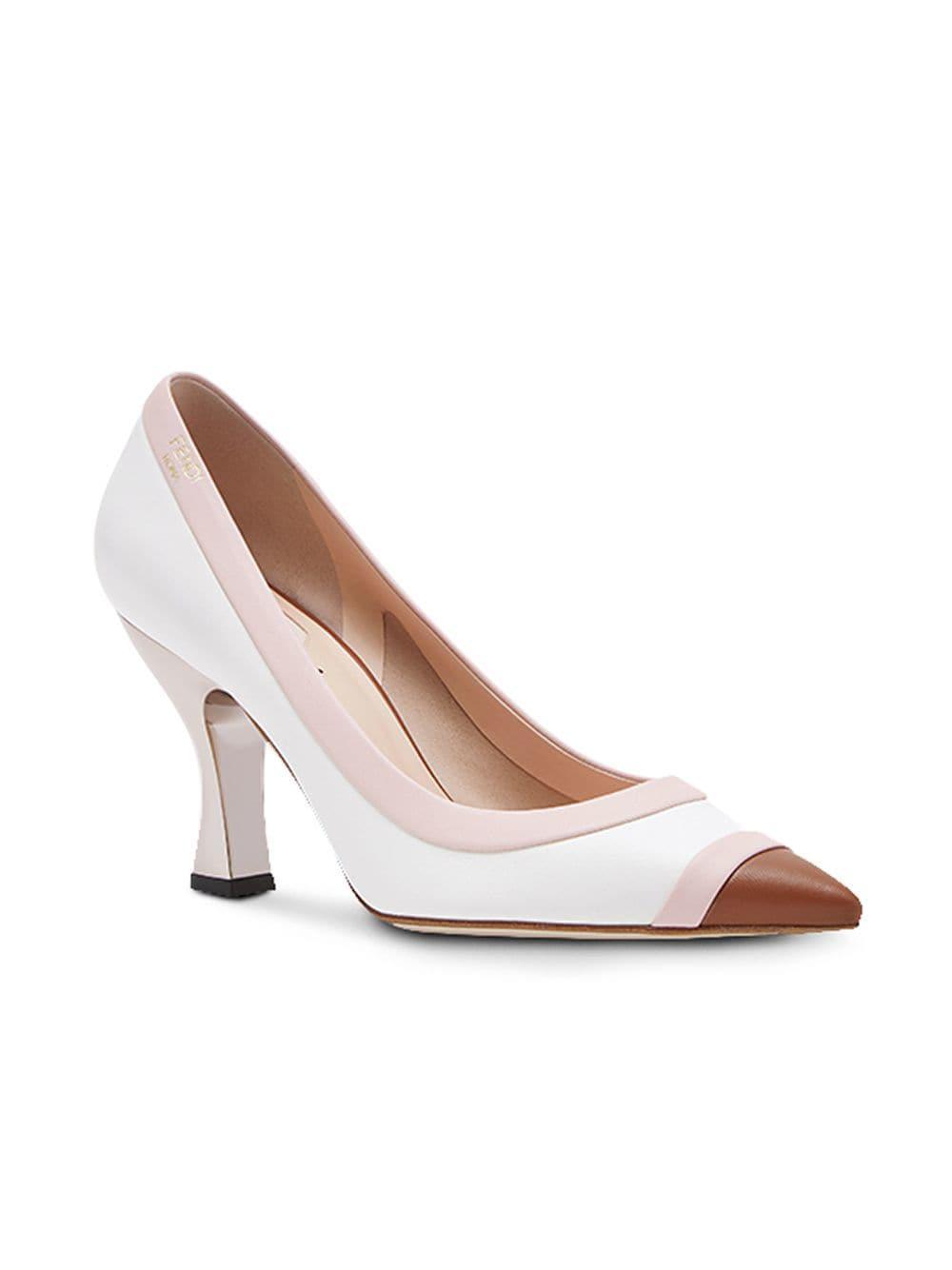 Fendi Slip-on Court Shoes in White - Lyst