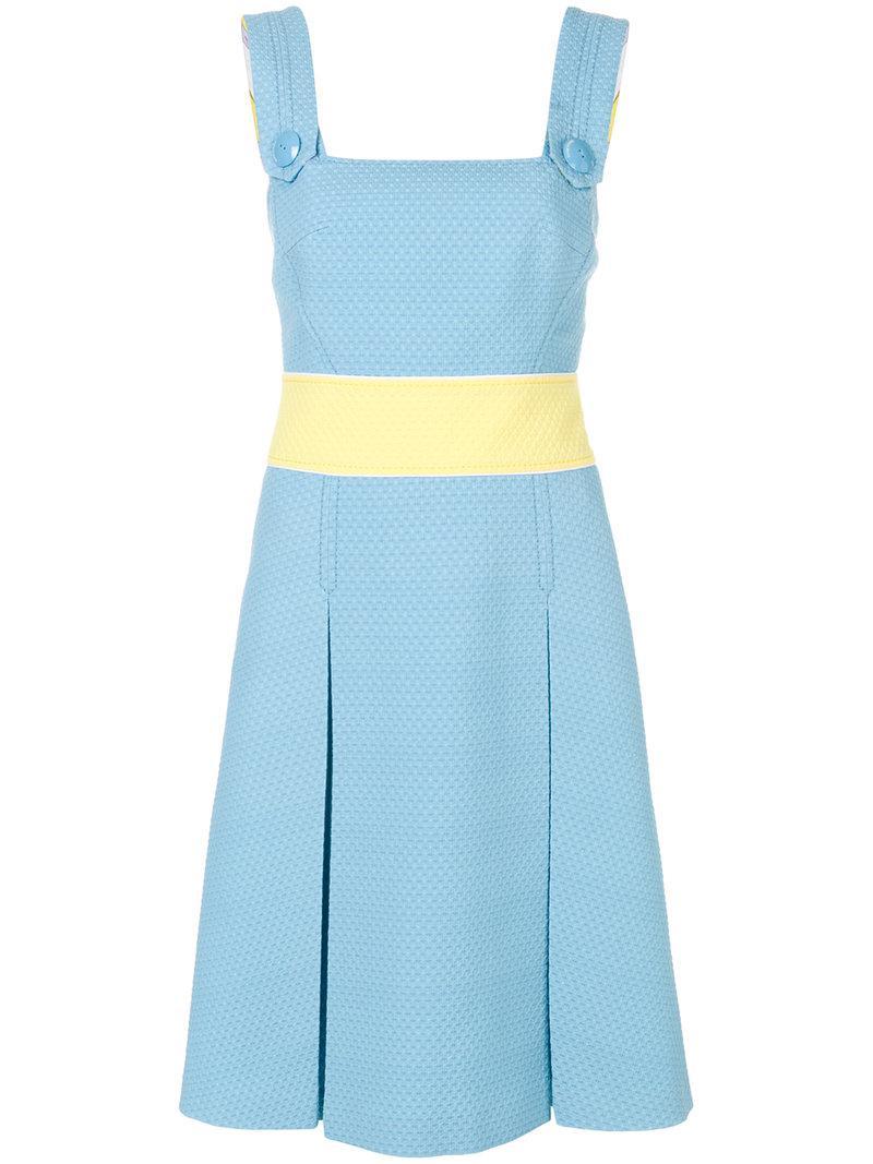 textured apron dress - Blue Emilio Pucci Obuk9w