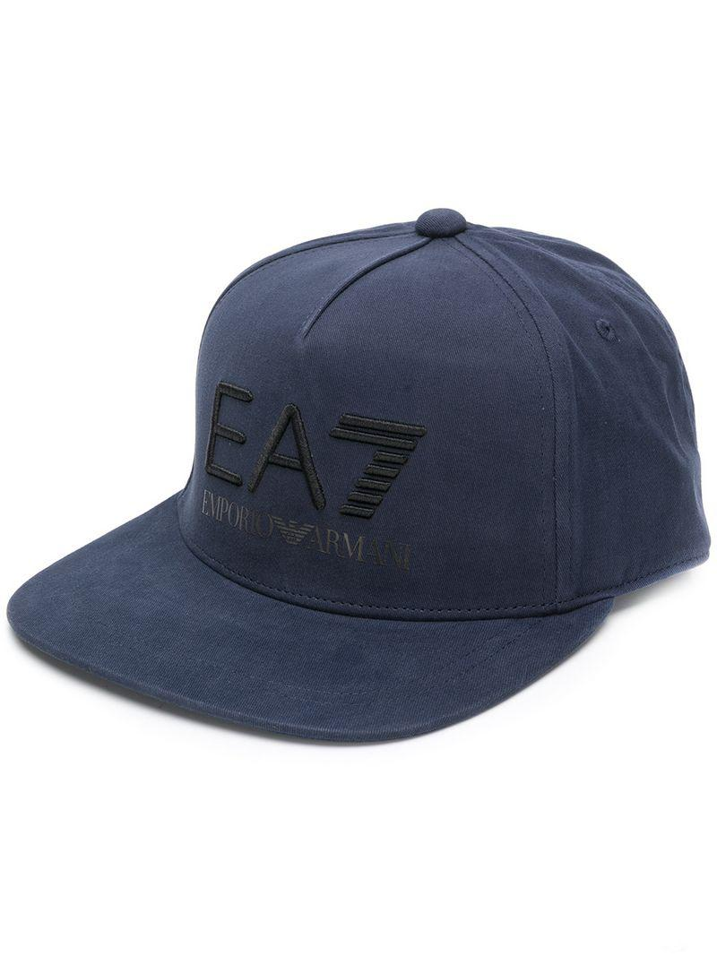 cc94a6dcacb87 Ea7 Embroidered Logo Cap in Blue for Men - Lyst