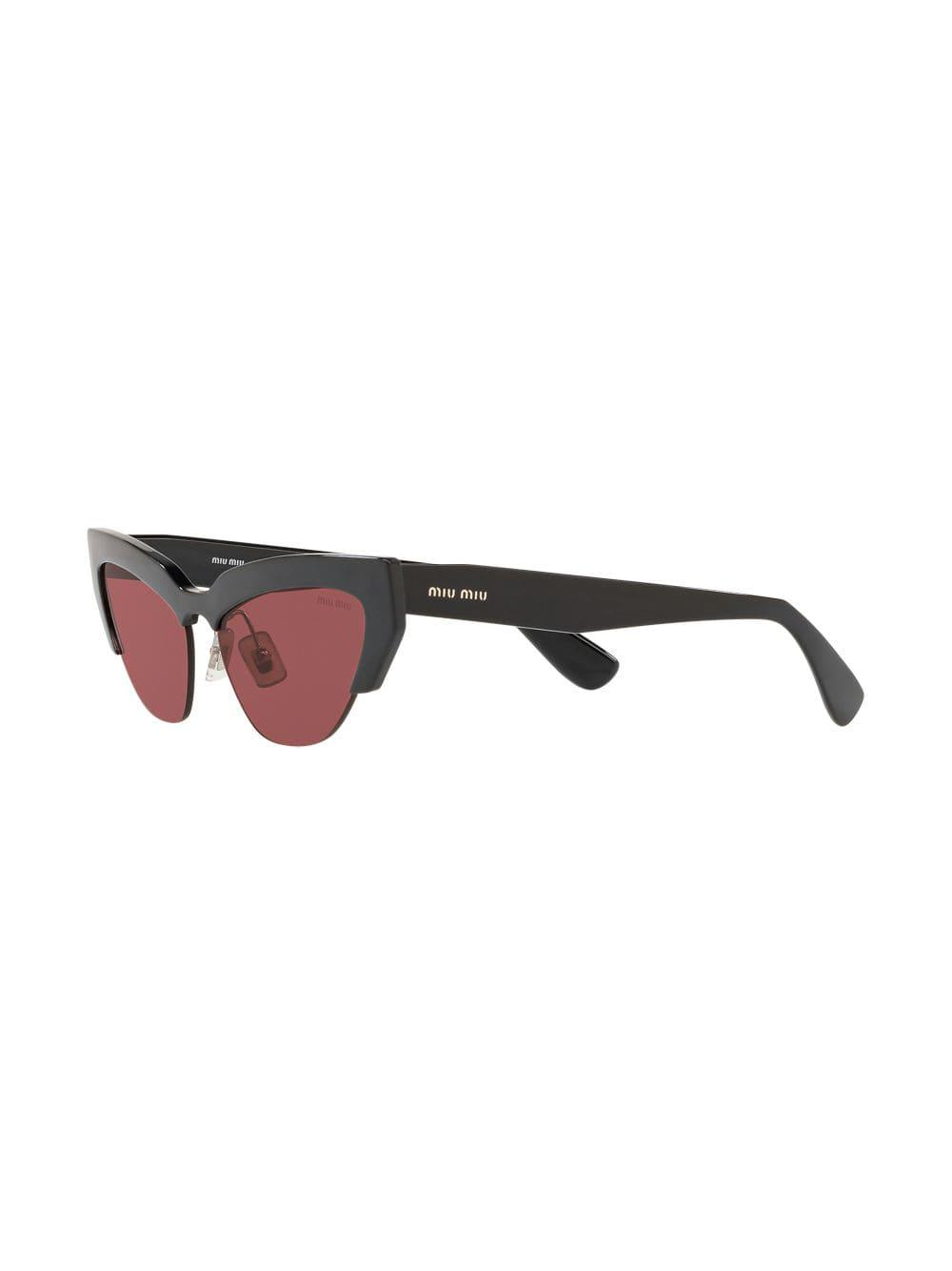 c2453dc4492 Miu Miu Razor Cat Eye Sunglasses in Black - Lyst