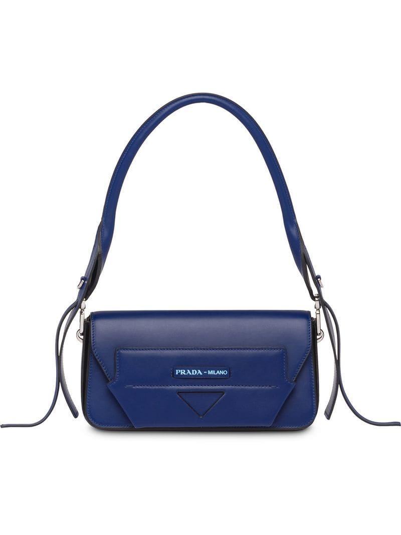 e4ce4c9aa382 Prada Manuelle Shoulder Bag in Blue - Lyst