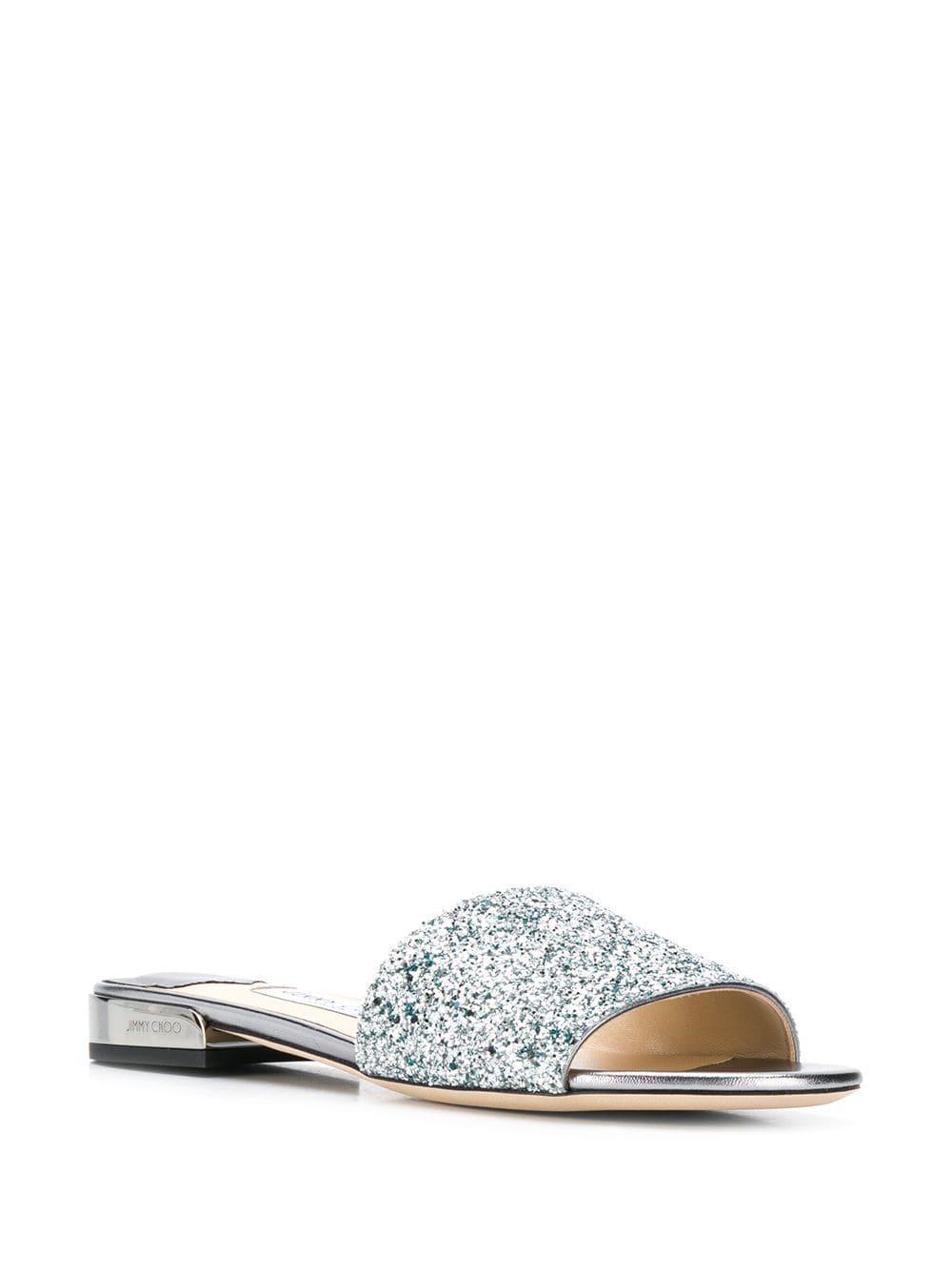 a3cbc8b181c6 Jimmy Choo Joni Flat Sandals in Metallic - Lyst