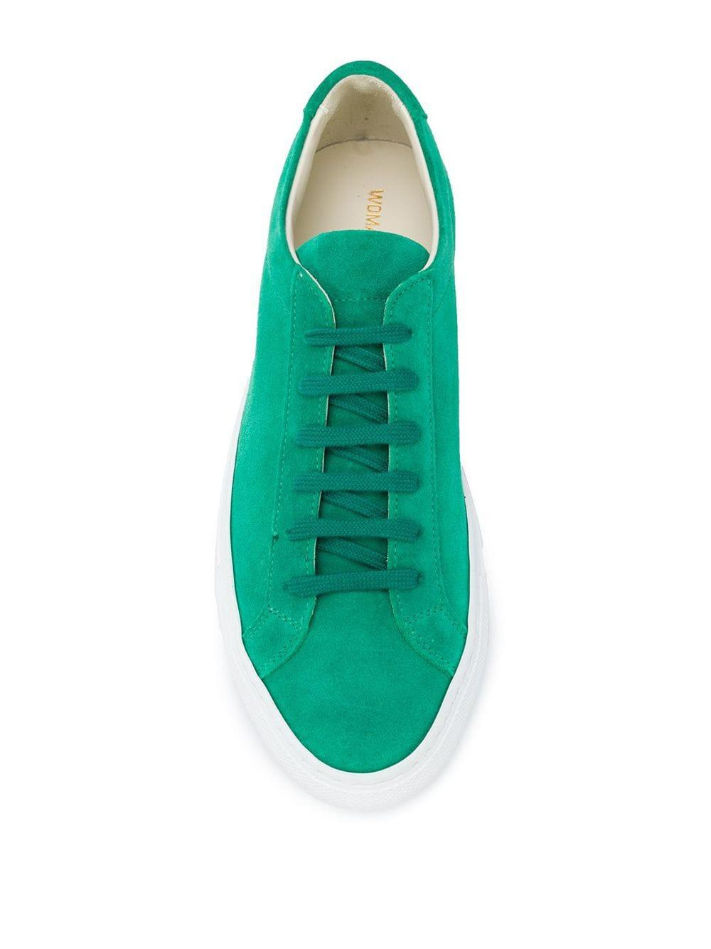 Zapatillas clásicas Common Projects de Cuero de color Verde