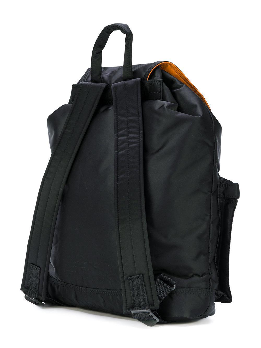 Porter Fold Over Backpack in Black for Men