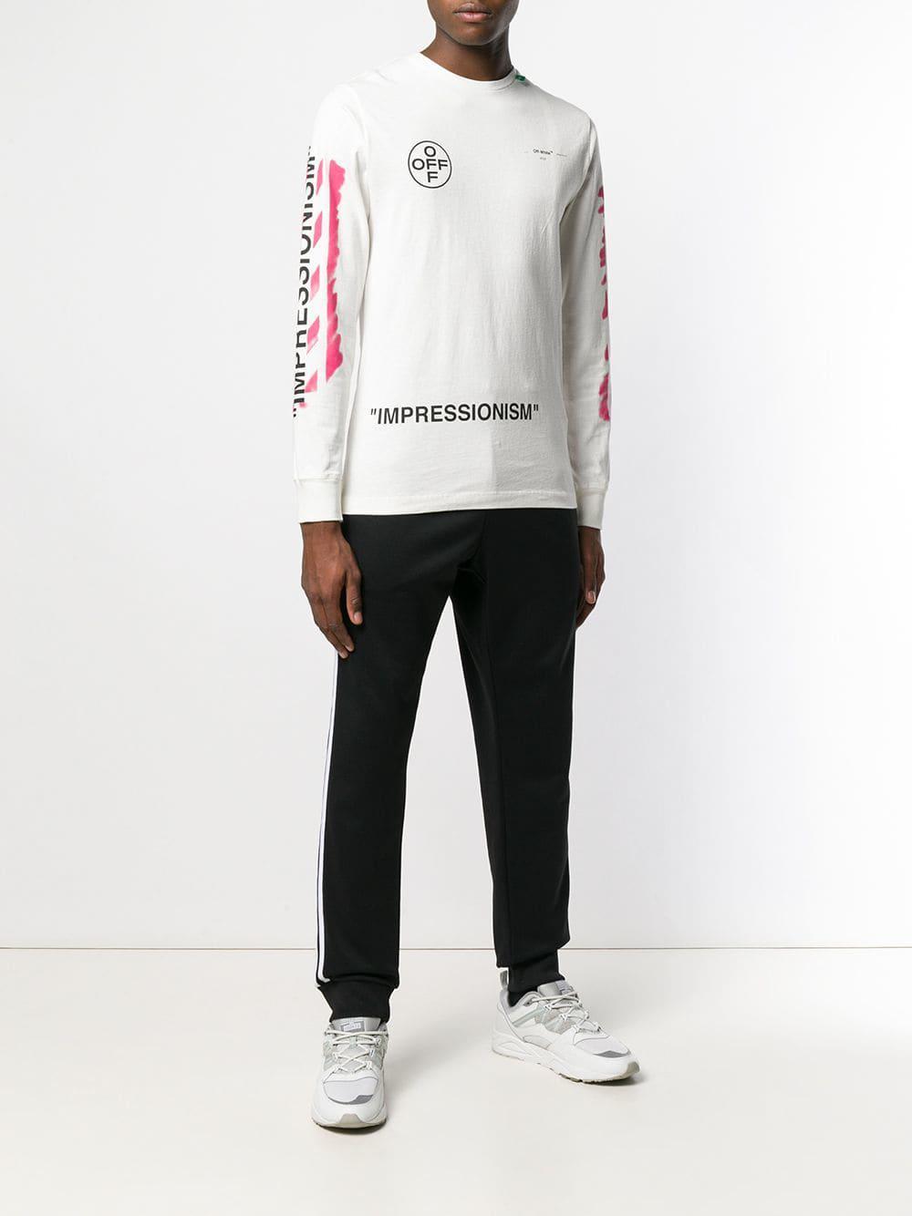 2499f963dfb1 ... Virgil Abloh - White Impressionism Sweatshirt for Men - Lyst. View  fullscreen