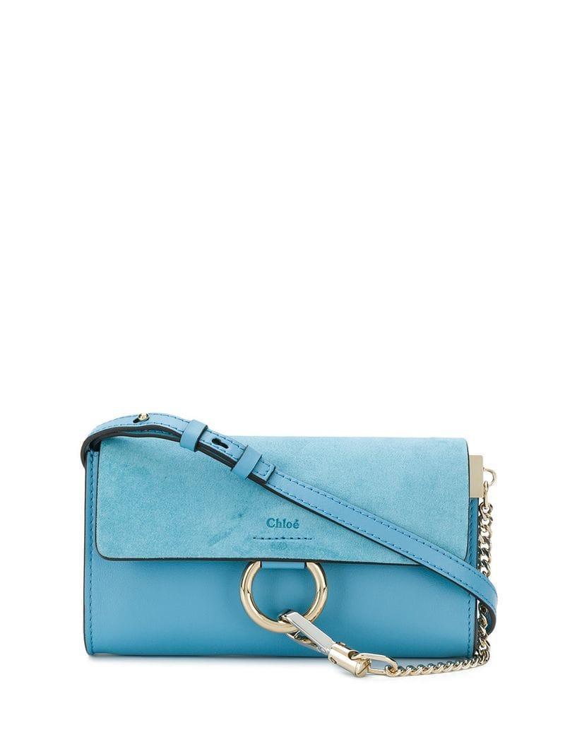 5bb6fcc1 Chloé Faye Crossbody Bag in Blue - Lyst