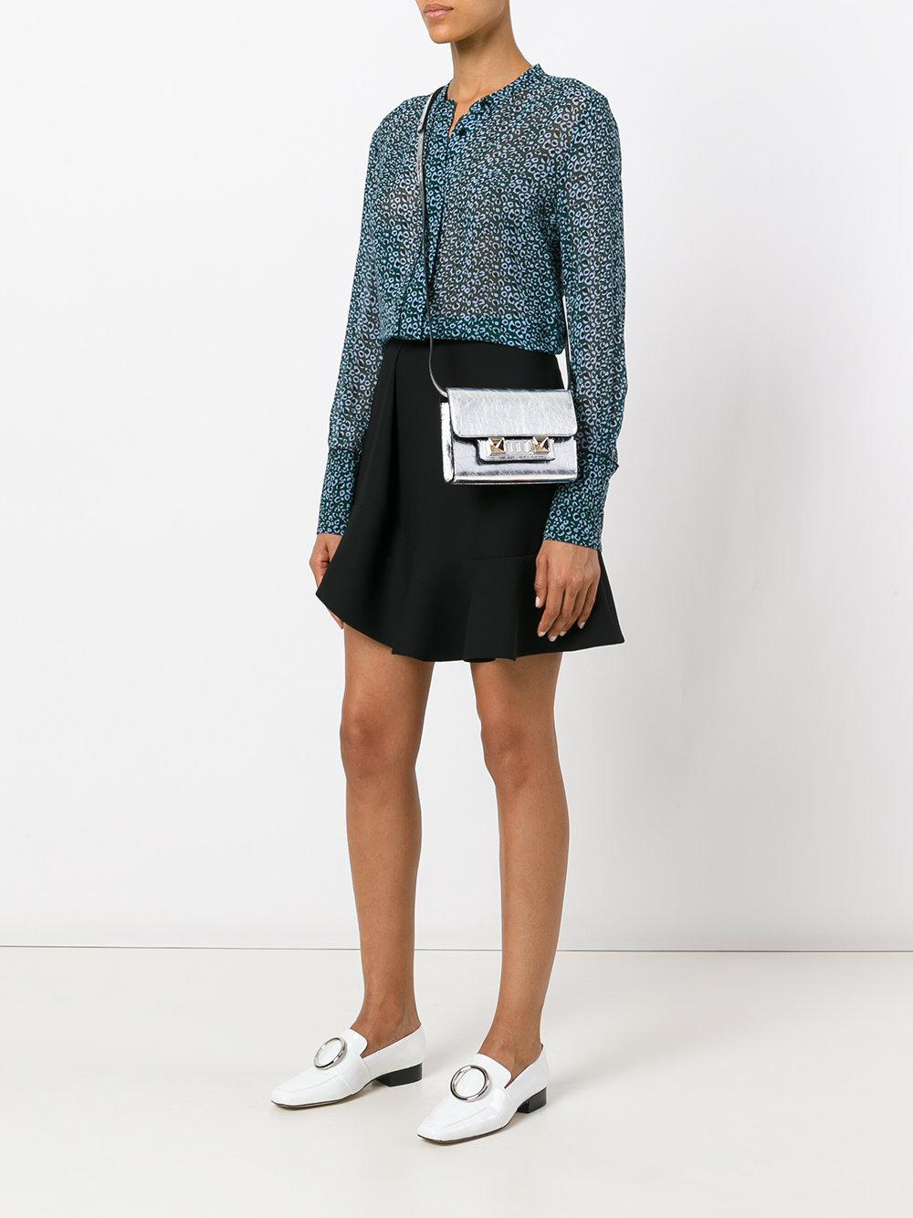 Proenza Schouler Leather Ps11 Tiny Crossbody Bag in Metallic
