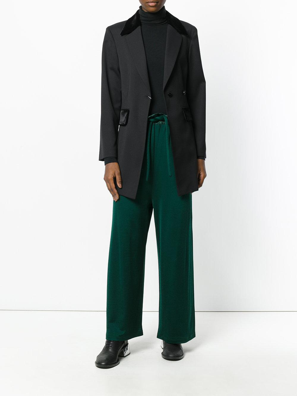 Lyst mm6 by maison martin margiela longline blazer in black for Maison de margiela
