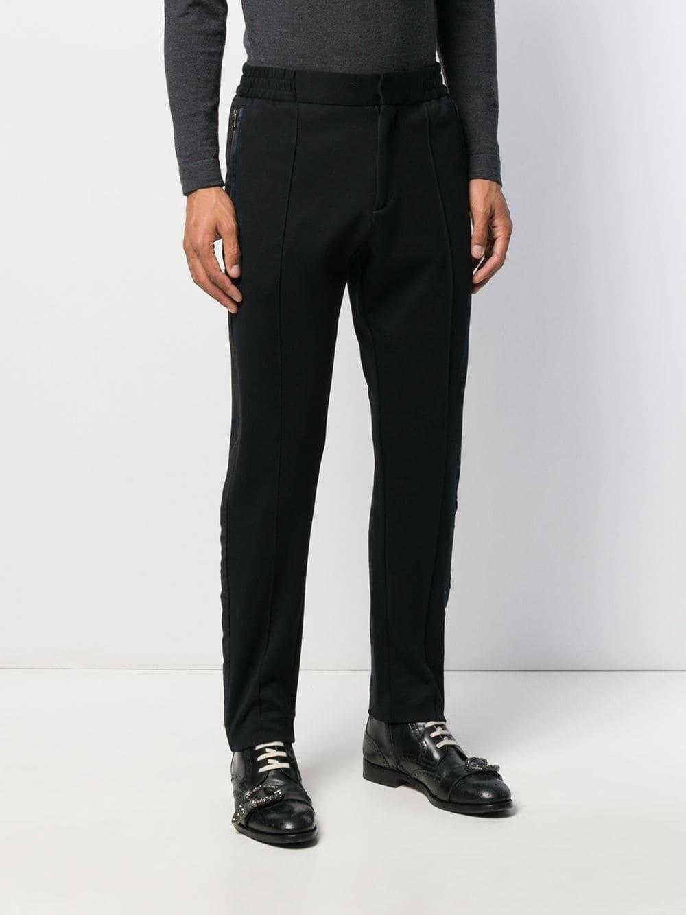 Etro Katoen Straight Broek in het Zwart voor heren