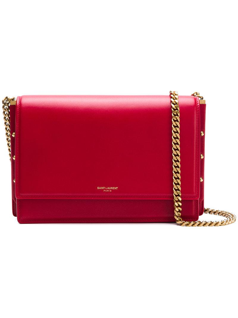 Saint Laurent - Red Zoe Bag - Lyst. View fullscreen 517a553b48174