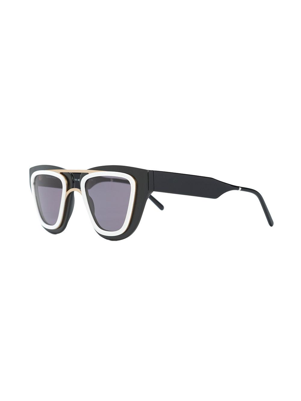Smoke X Mirrors Contrast-trim Sunglasses in Black