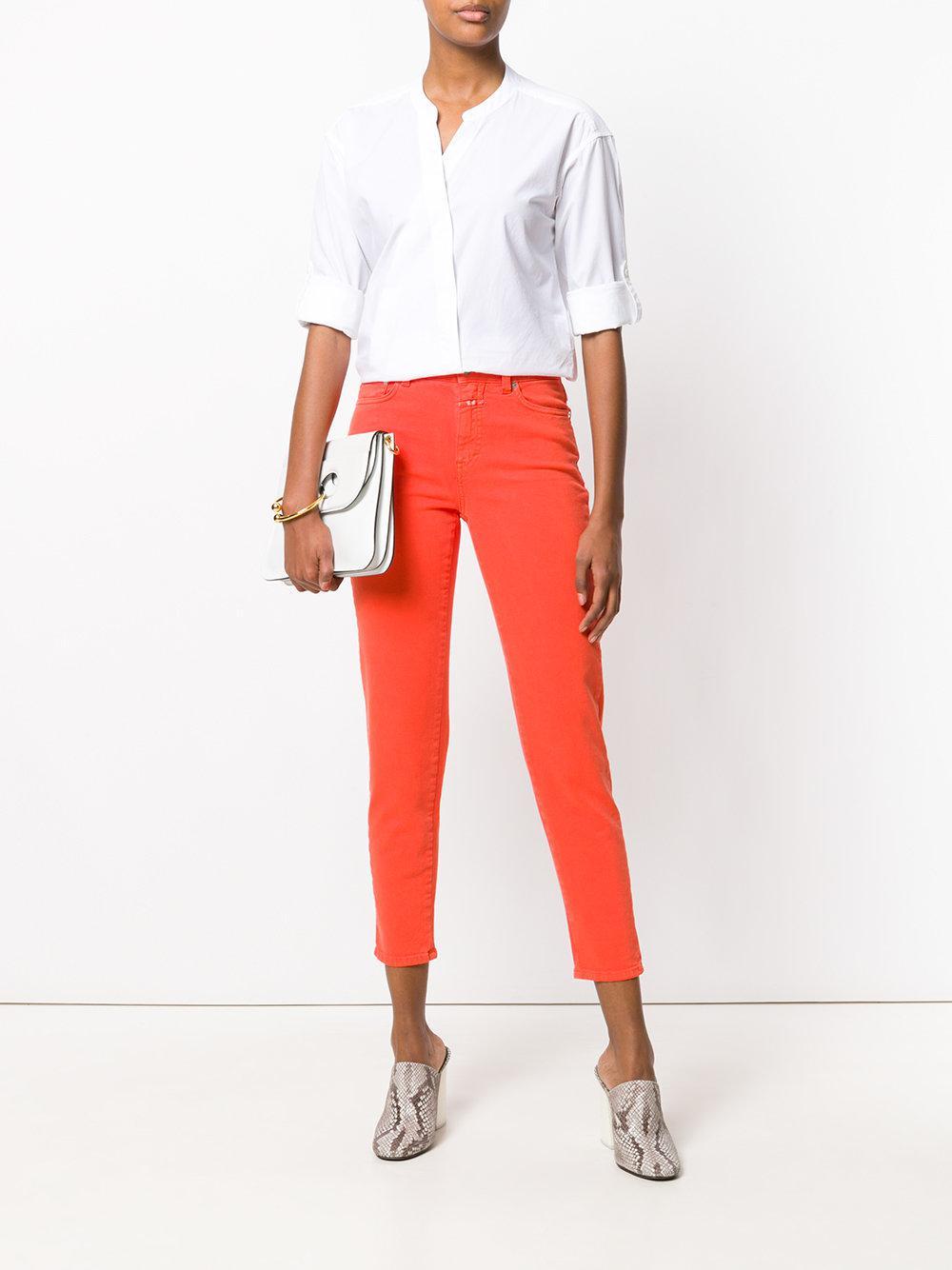 Asymmetric front shirt Coton Closed en coloris Blanc