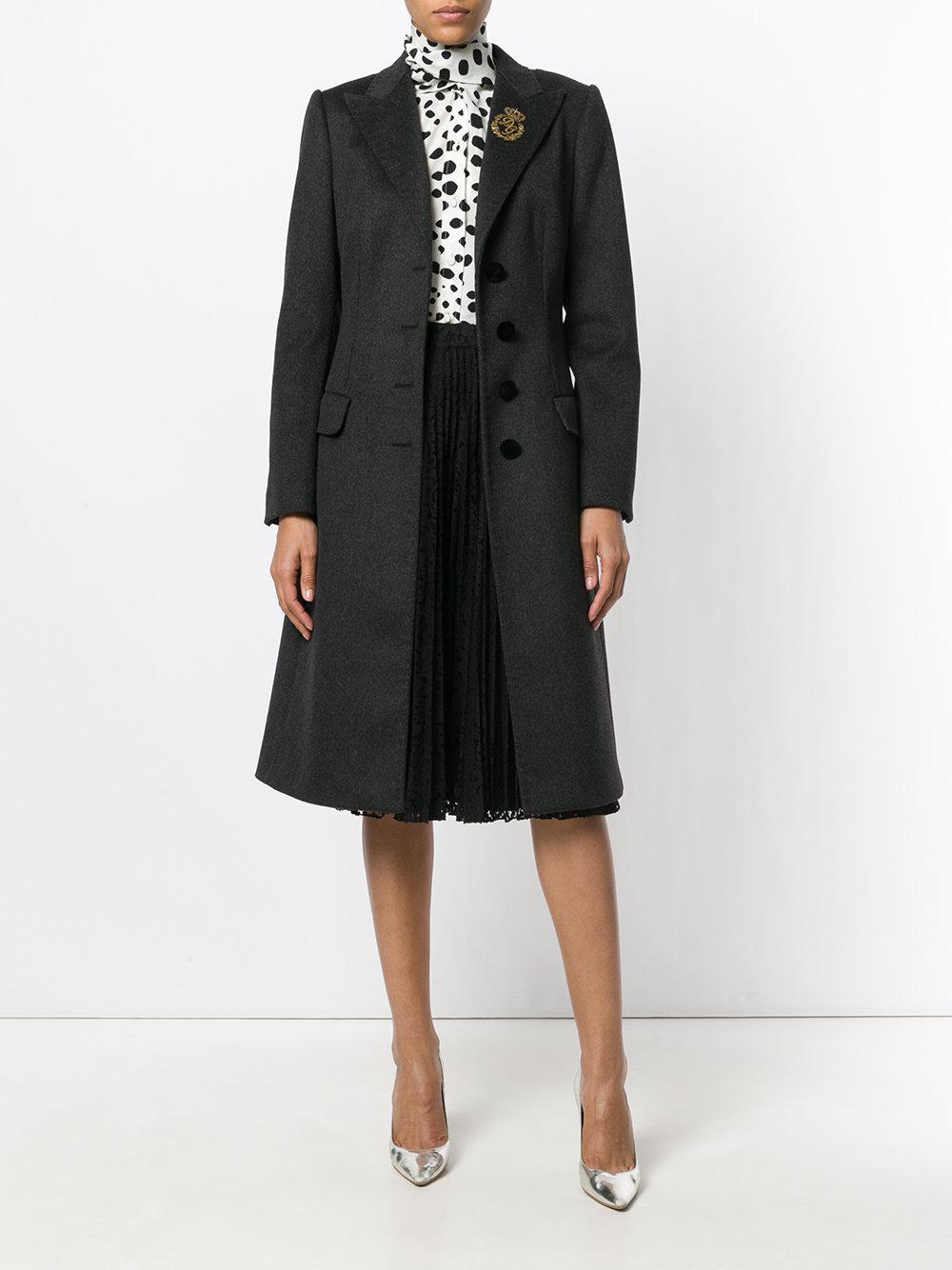 Manteau cintré Soie Dolce & Gabbana en coloris Gris 6Q4aS