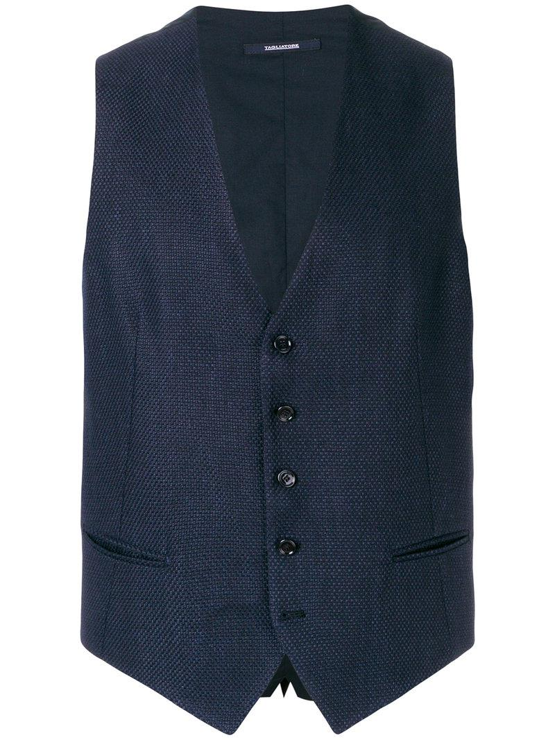 tweed waistcoat - Blue Tagliatore Sale Websites Online Shop Cheap Buy Cheap With Mastercard WBjoIEJCDJ