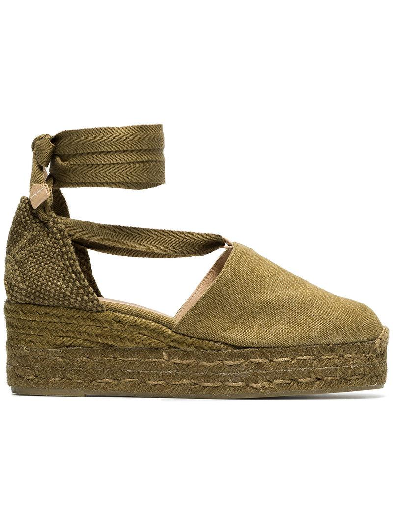 with mastercard cheap price Castañer Green Campesina 30 canvas espadrille wedges clearance store cheap price cheap sale footaction bwMlm