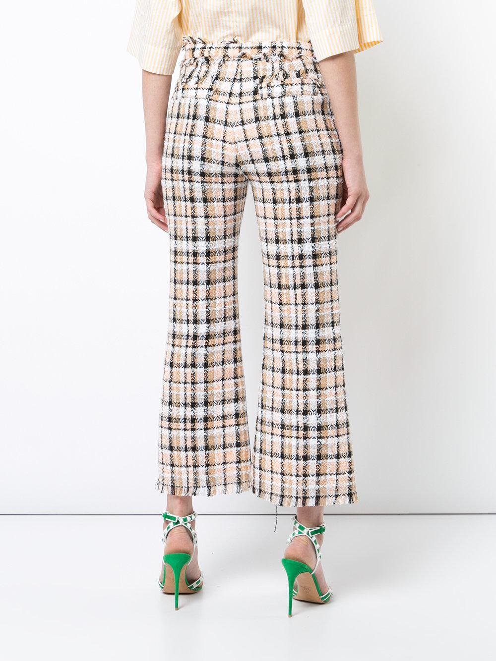 MSGM check tweed cropped flared trousers Explore Online Best Sale Cheap Online Sale Online Cheap znq1hmXs