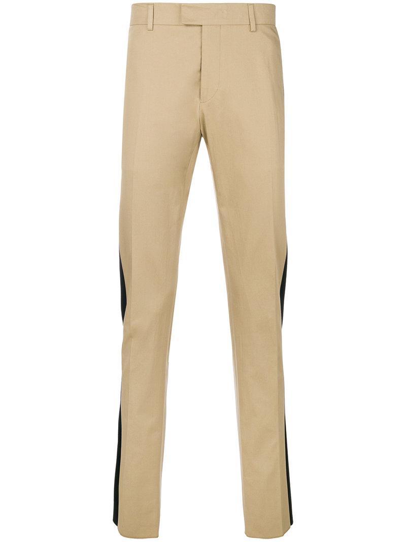 satin trim trousers - Nude & Neutrals Les Hommes VImfBM9v