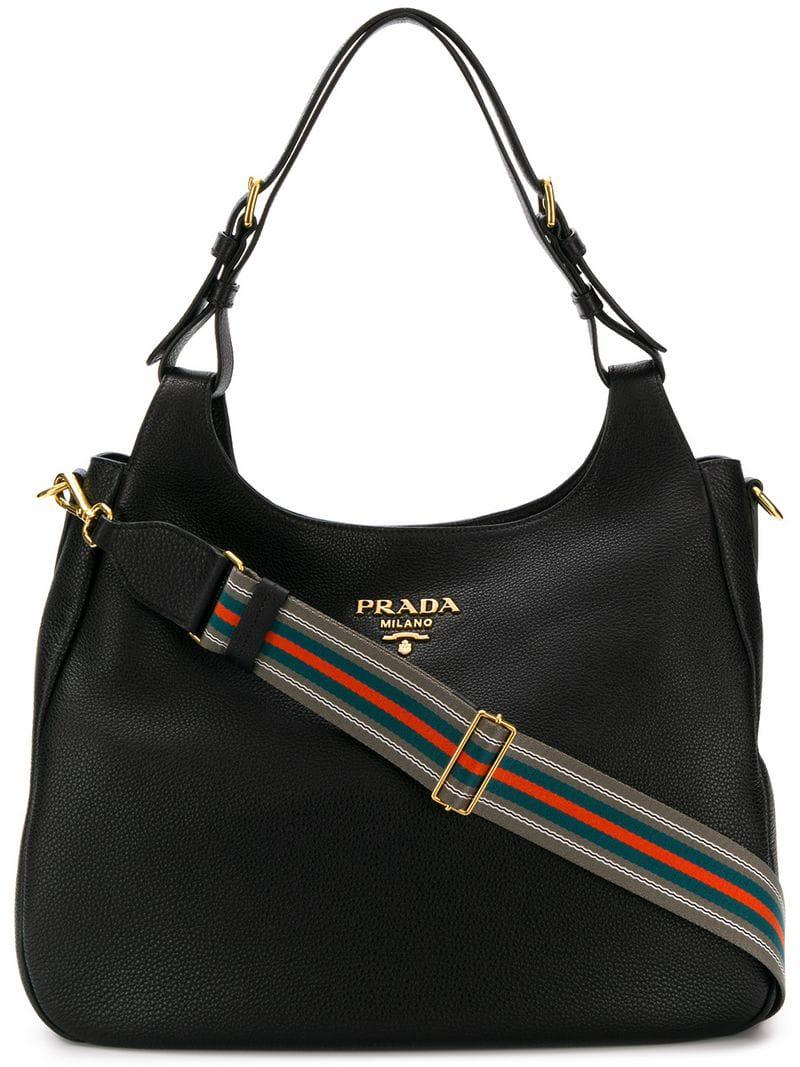 64cd82bbfd Prada - Black Oversized Hobo Bag - Lyst. View fullscreen