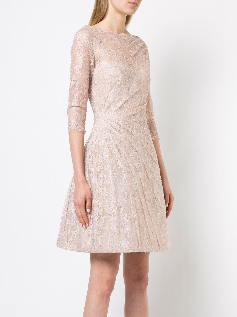lace detail flared dress - Nude & Neutrals Monique Lhuillier iuqJ9ReUMu
