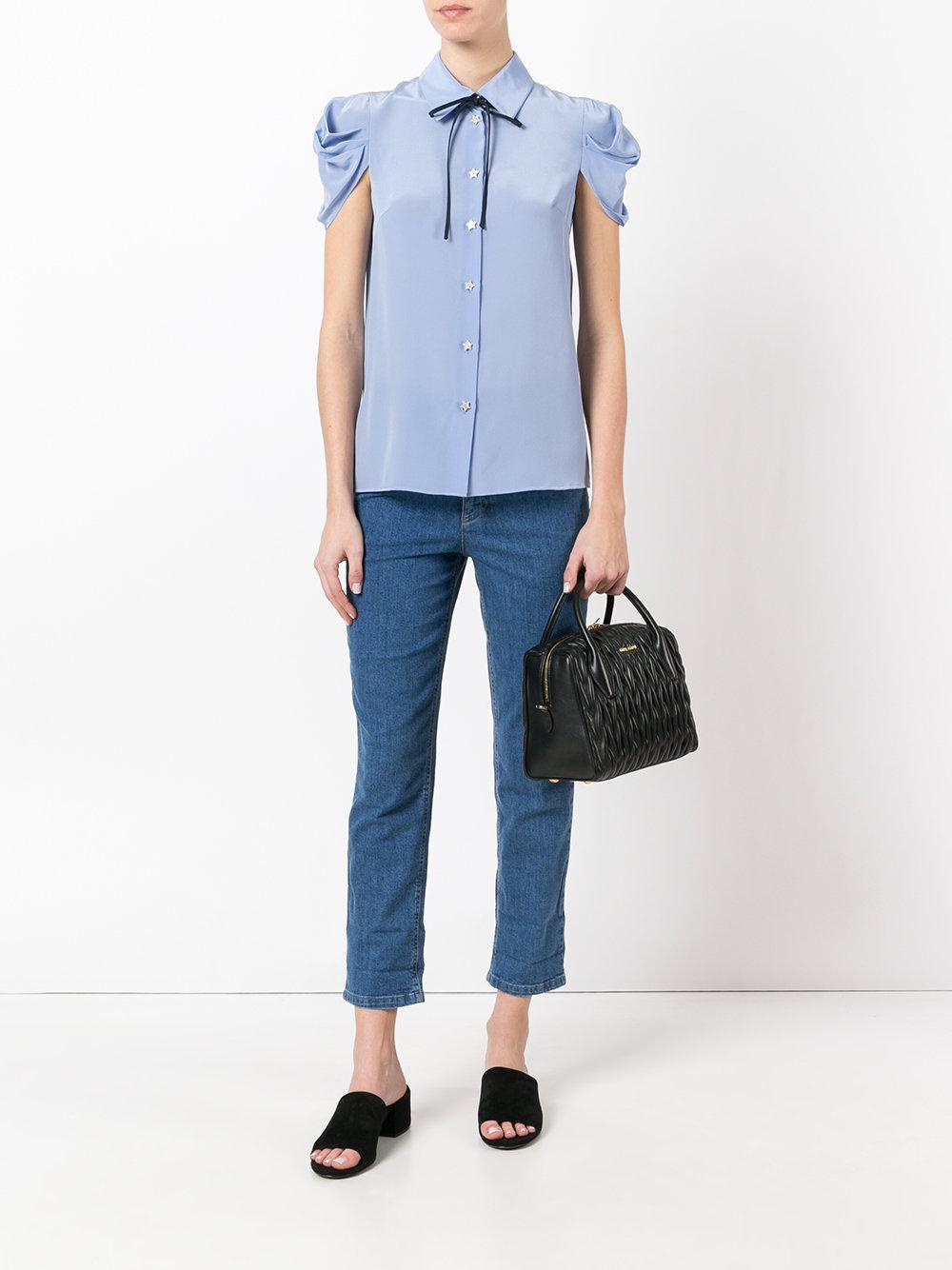Miu Miu - Quilted Tote Bag - Women - Calf Leather - One Size in Black