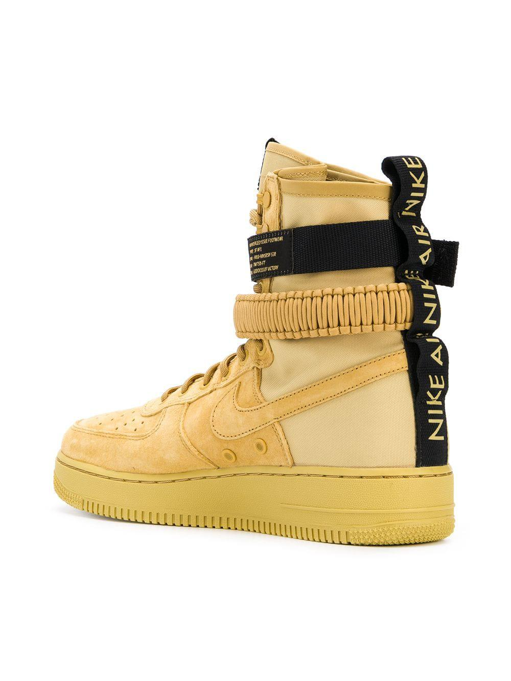 best website 4996a 6dd56 Nike Sf Air Force 1 High Top Sneakers in Yellow for Men - Lyst