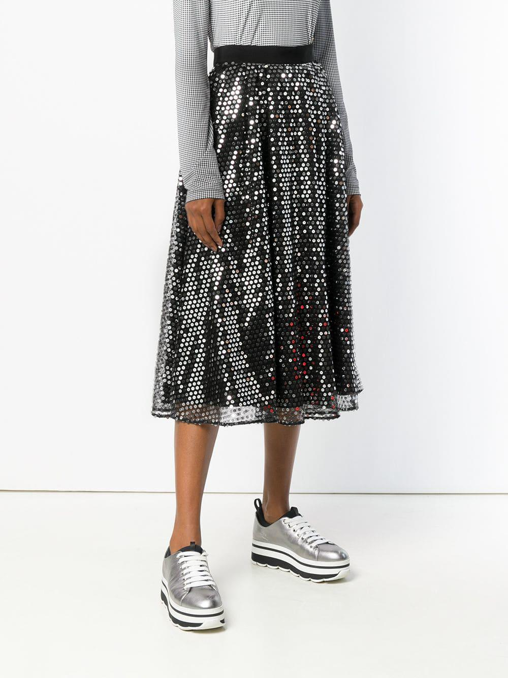 Falda de lentejuelas MSGM de Tejido sintético de color Negro