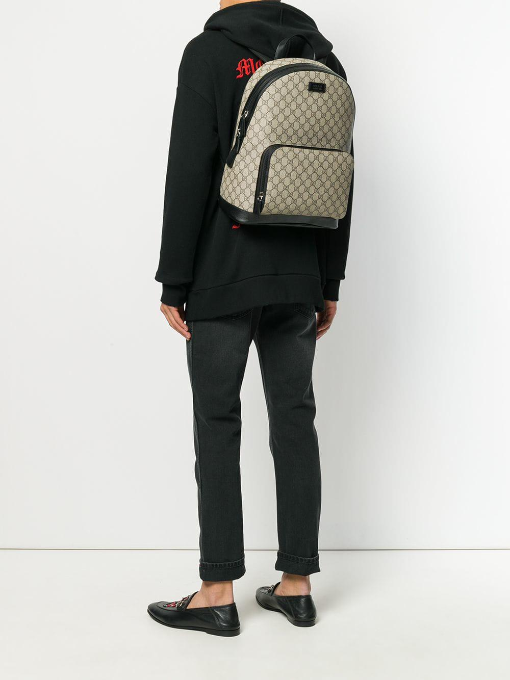 Gucci - Brown GG Supreme Backpack for Men - Lyst. View fullscreen c14a7d459c