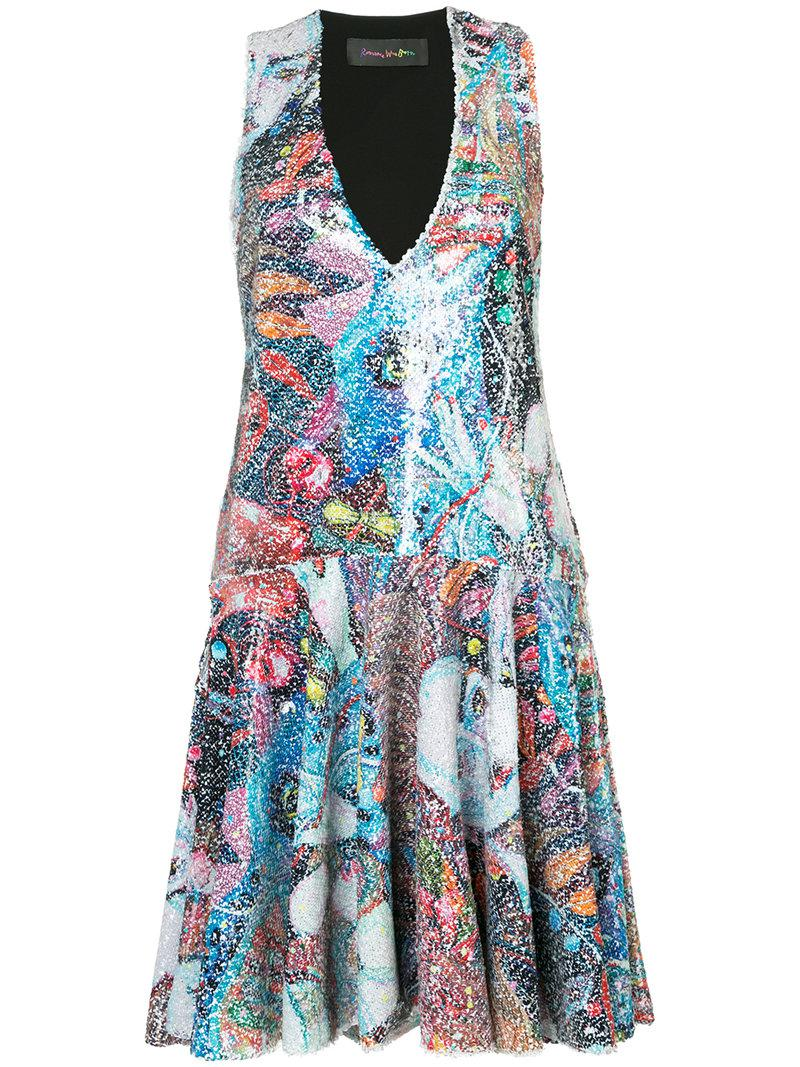 3a0658a19a201 Romance Was Born Sequin Protagonist Dress in Blue - Lyst