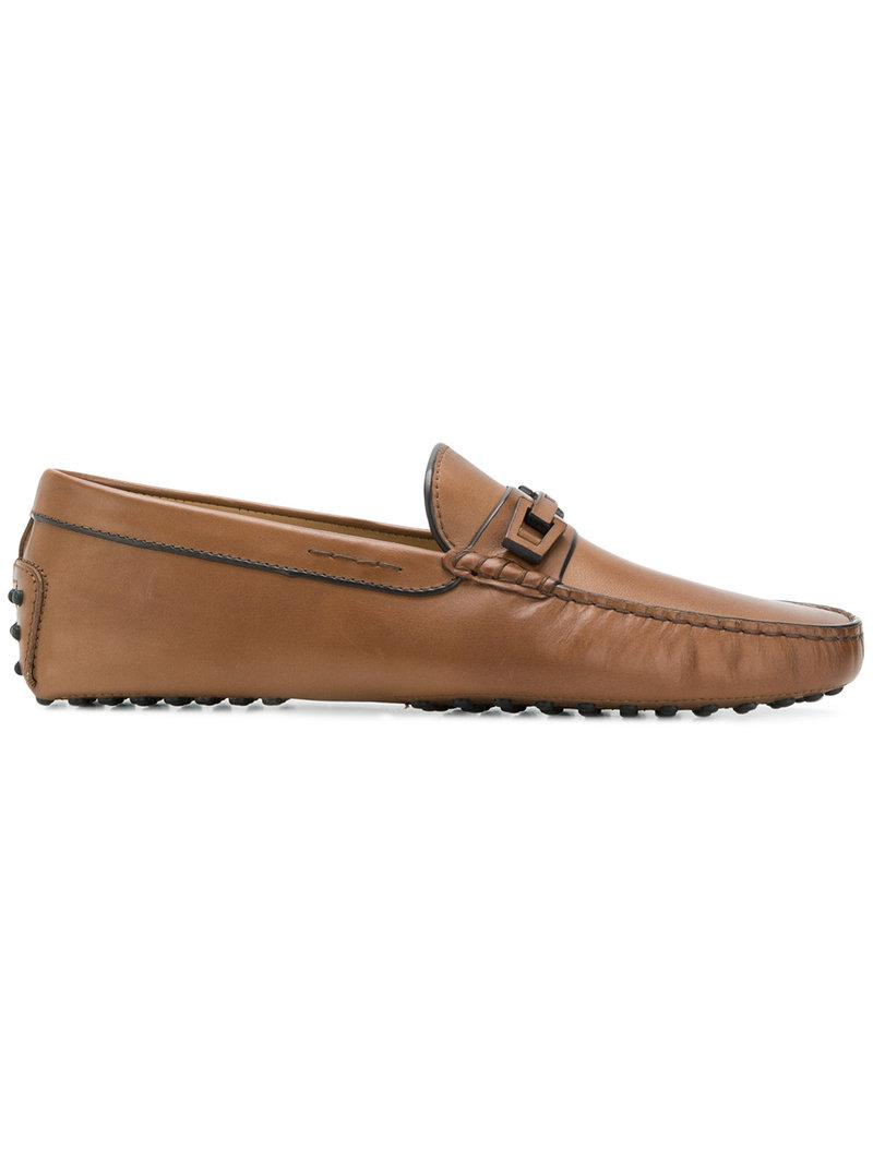 For Classic Flat Tod's Lyst Men Brown Sole Loafers In qYEEd